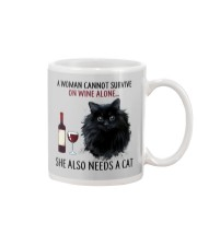 Limited Edition - Woman Also Needs Cat On Wine Mug thumbnail