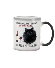 Limited Edition - Woman Also Needs Cat On Wine Color Changing Mug thumbnail