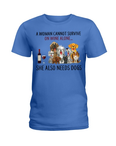 Limited Edition - A Man Also Needs Dogs On Wine