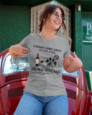 Limited Edition - Woman Also Needs A Dog On Wine Ladies T-Shirt apparel-ladies-t-shirt-lifestyle-01