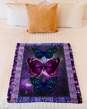 "Butterfly - Only One Day Small Fleece Blanket - 30"" x 40"" aos-coral-fleece-blanket-30x40-lifestyle-front-04"