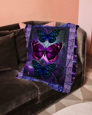"Butterfly - Only One Day Small Fleece Blanket - 30"" x 40"" aos-coral-fleece-blanket-30x40-lifestyle-front-05"