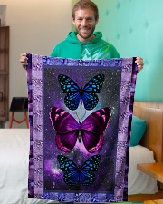 "Butterfly - Only One Day Small Fleece Blanket - 30"" x 40"" aos-coral-fleece-blanket-30x40-lifestyle-front-09"