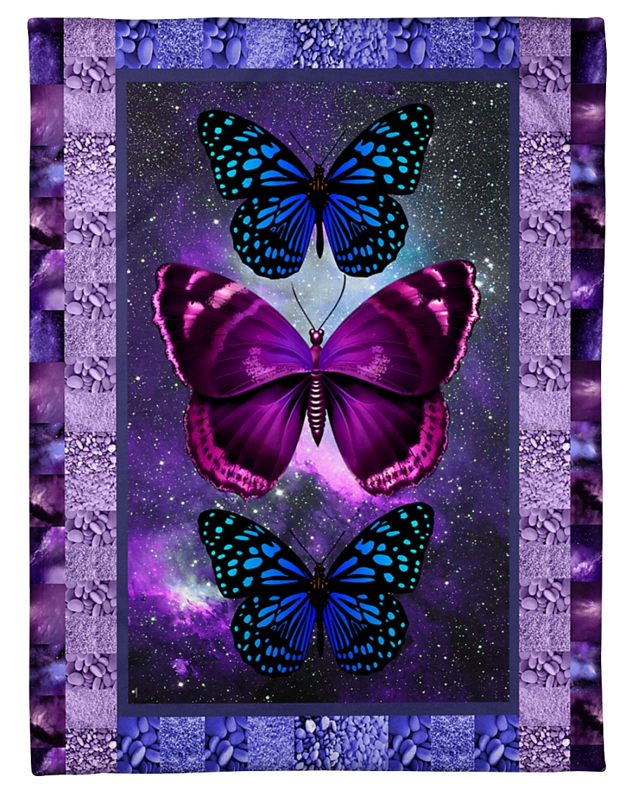 "Butterfly - Only One Day Small Fleece Blanket - 30"" x 40"""