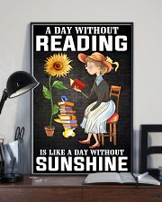 A Day Without Reading Like A Day Without Sunshine 24x36 Poster lifestyle-poster-2