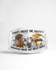 Dogs Make Me Happy Cloth Face Mask - 3 Pack aos-face-mask-lifestyle-22