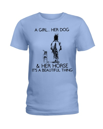 A Girl - Her Dog And Her Horse - Beautyful Thing