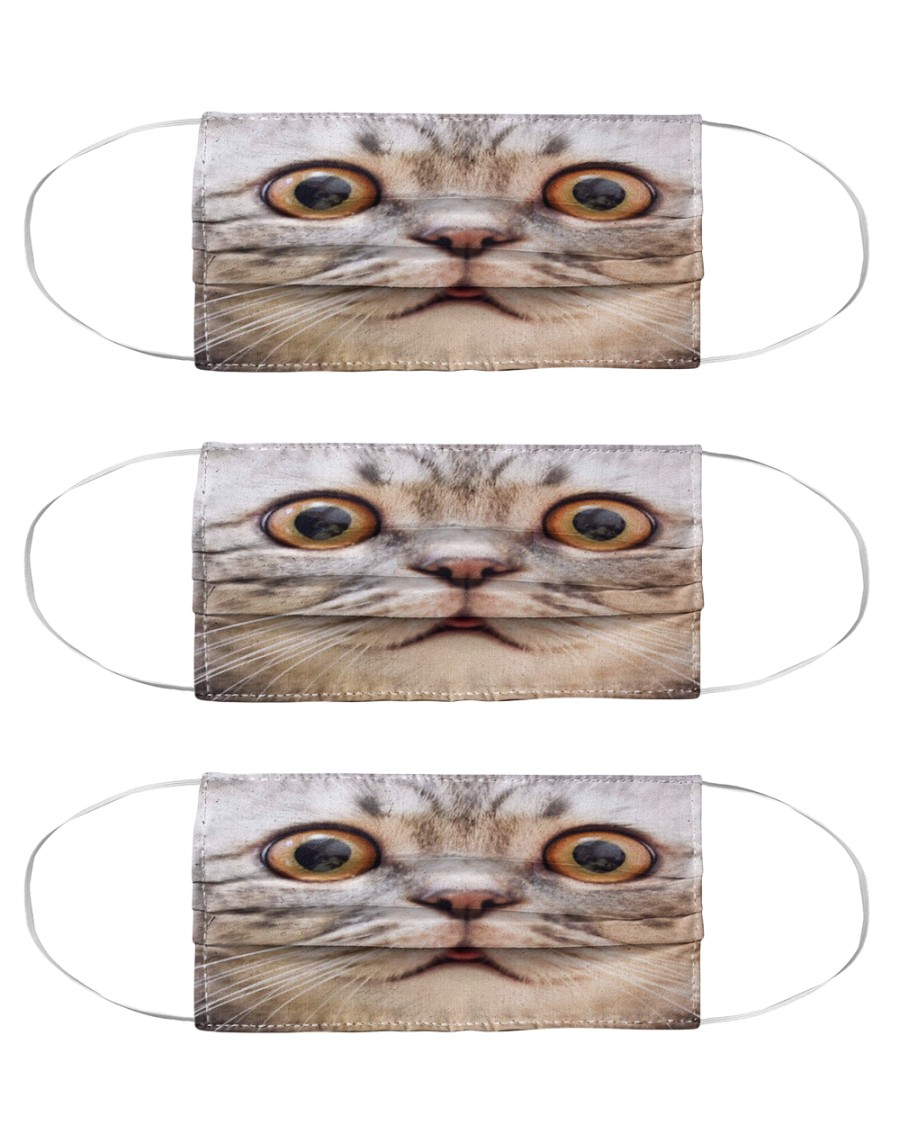 Big Face Cat Cloth Face Mask - 3 Pack