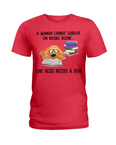 Limited Edition - A Woman Needs Dogs On Books