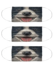 Big Face Border Collie Cloth Face Mask - 3 Pack front