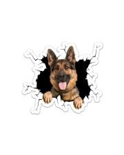 German Shepherd Sticker - Single (Horizontal) front