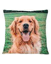 Big Face Golden Retriever Square Pillowcase thumbnail
