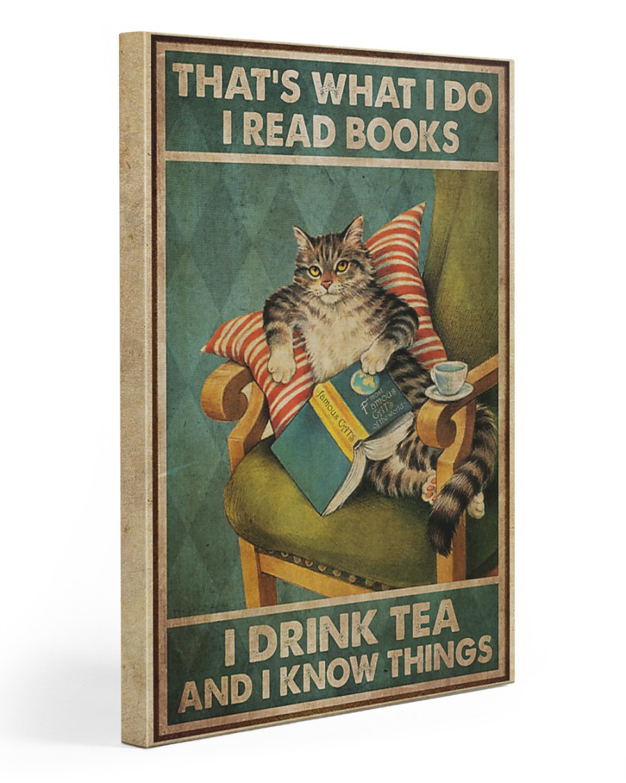 I Read Books - I Drink Tea And I Know Things 20x30 Gallery Wrapped Canvas Prints