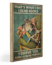 I Read Books - I Drink Tea And I Know Things 20x30 Gallery Wrapped Canvas Prints front