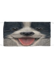 Big Face Border Collie Cloth face mask front