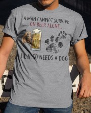 Limited Edition - A Man Also Needs A Dog On Beer Classic T-Shirt apparel-classic-tshirt-lifestyle-28