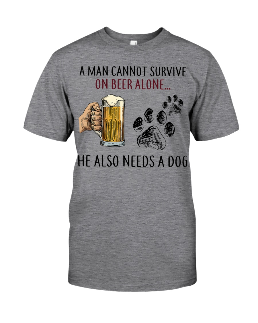 Limited Edition - A Man Also Needs A Dog On Beer Classic T-Shirt