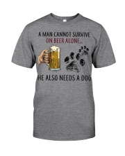 Limited Edition - A Man Also Needs A Dog On Beer Classic T-Shirt front