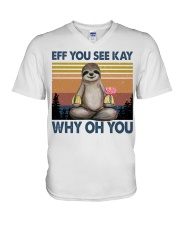 Limited Edition - Eff You See Kay - Why Oh You V-Neck T-Shirt thumbnail