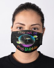 Stay Out Of My Bubble Cloth face mask aos-face-mask-lifestyle-01