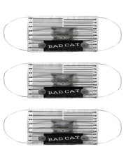 Bad Cat Cloth Face Mask - 3 Pack front