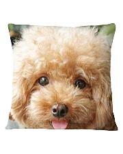 Big Face Poodle Square Pillowcase thumbnail