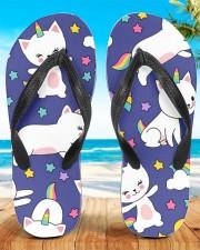 Caticorn Women's Flip Flops aos-women-flip-flops-lifestyle-front-01
