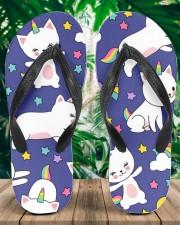 Caticorn Women's Flip Flops aos-women-flip-flops-lifestyle-front-01a
