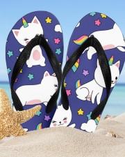 Caticorn Women's Flip Flops aos-women-flip-flops-lifestyle-front-02
