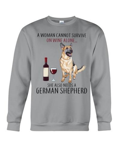 A Woman Also Needs A German Shepherd On Wine