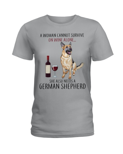 A Woman Also Needs A German Shepherd On Wine