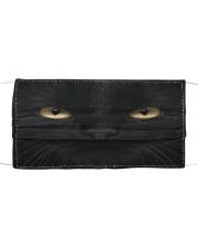 Big Face Black Cat Cloth face mask front