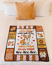 "Corgi - Soft - Warm - Little Ball Of Fur Small Fleece Blanket - 30"" x 40"" aos-coral-fleece-blanket-30x40-lifestyle-front-04"