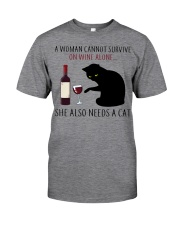 Limited Edition - Woman Also Needs A Cat Classic T-Shirt thumbnail