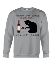 Limited Edition - Woman Also Needs A Cat Crewneck Sweatshirt thumbnail
