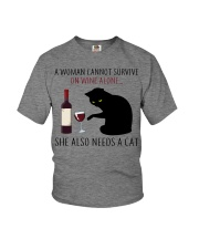 Limited Edition - Woman Also Needs A Cat Youth T-Shirt thumbnail
