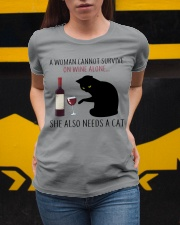 Limited Edition - Woman Also Needs A Cat Ladies T-Shirt apparel-ladies-t-shirt-lifestyle-04