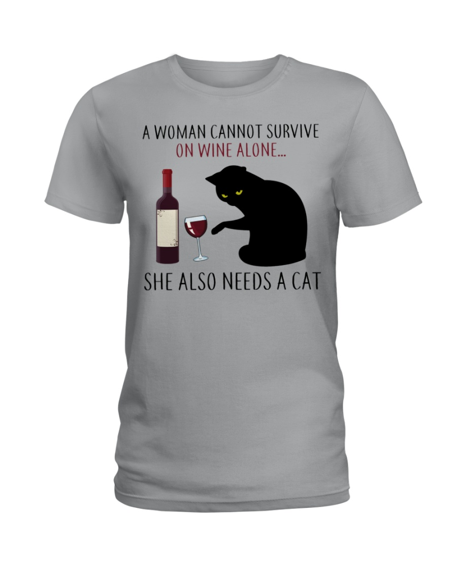Limited Edition - Woman Also Needs A Cat Ladies T-Shirt