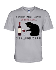 Limited Edition - Woman Also Needs A Cat V-Neck T-Shirt thumbnail