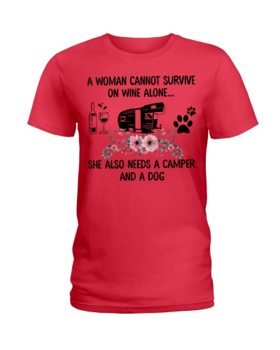 Woman Also Needs A Camper And A Dog On Wine