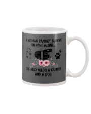 Woman Also Needs A Camper And A Dog On Wine Mug thumbnail