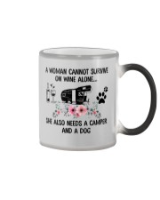 Woman Also Needs A Camper And A Dog On Wine Color Changing Mug thumbnail