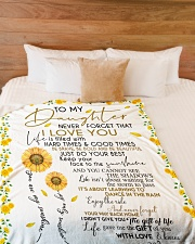 """To My Daughter Large Fleece Blanket - 60"""" x 80"""" aos-coral-fleece-blanket-60x80-lifestyle-front-02"""