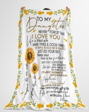 """To My Daughter Large Fleece Blanket - 60"""" x 80"""" aos-coral-fleece-blanket-60x80-lifestyle-front-10"""