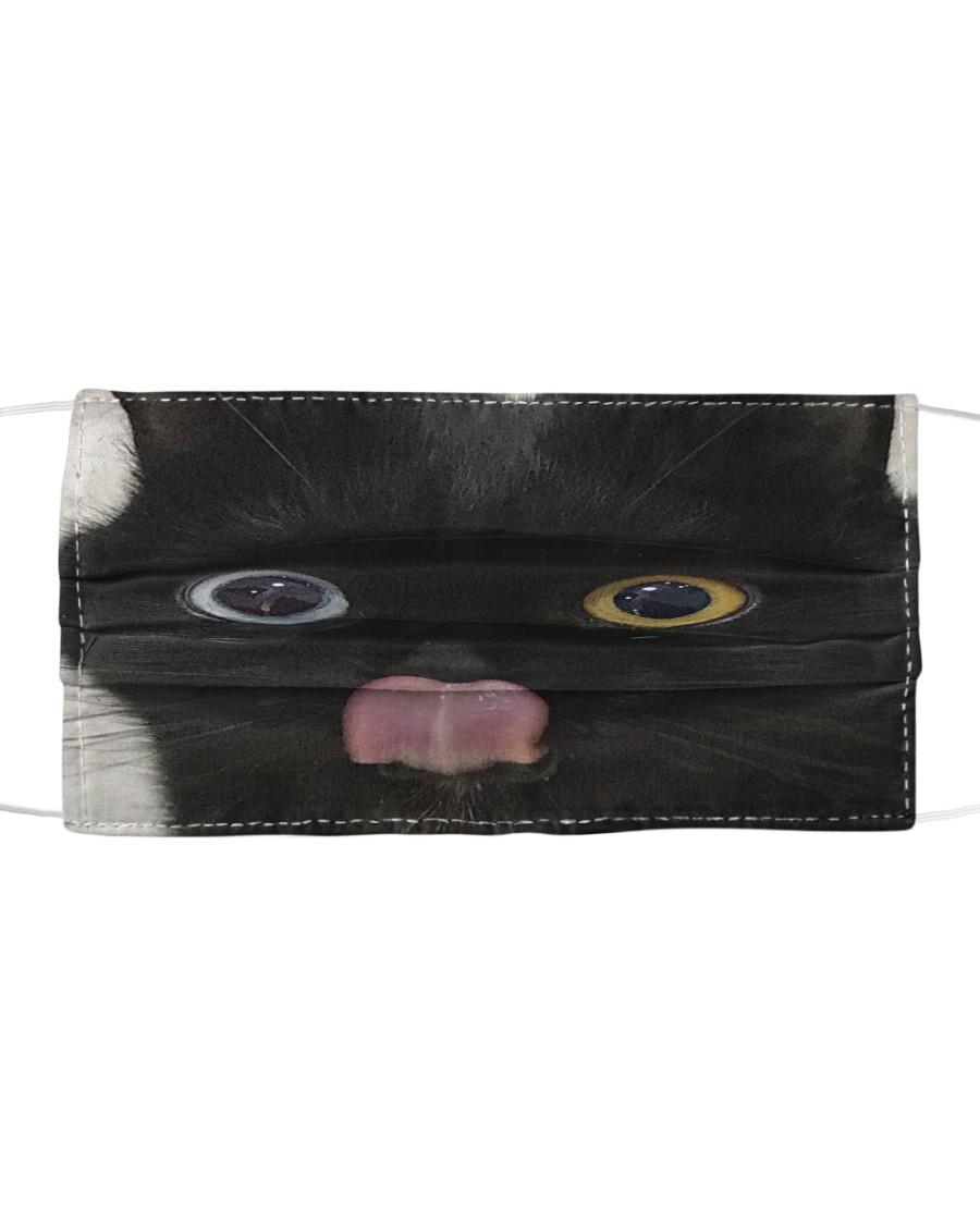 Big Face Black Cat Cloth face mask