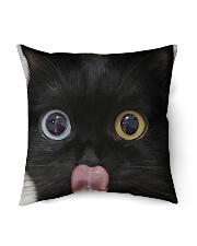"""Big Face Black Cat Indoor Pillow - 16"""" x 16"""" thumbnail"""