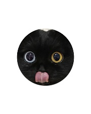 Big Face Black Cat Circle Magnet thumbnail