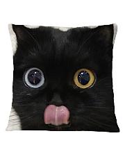 Big Face Black Cat Square Pillowcase thumbnail