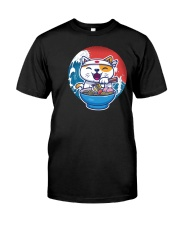 cat eat ramen retro and vintage illustration Classic T-Shirt front