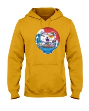 cat eat ramen retro and vintage illustration Hooded Sweatshirt front